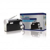 Torche fonctionnalité radio et chargeur rechargeable par dynamo