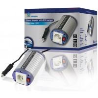 Convertisseur 12 V - 150 W + USB avec plot terre