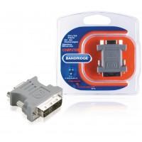 Adaptateur DVI DVI-A 12+5p Mâle - VGA Femelle Gris