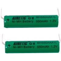 Pack accus NiMH 1.2 V 550 mAh