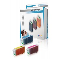 Cartridge Canon compatible VLI-521 couleur (3x 9ml)