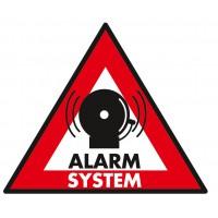 Autocollant système d'alarme 123 x 148 mm