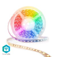 Bande de LED Intelligente Wi-Fi | Pleine Couleur et Blanc Chaud à Blanc Froid | 5 m