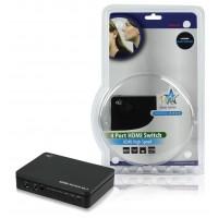 Commutateur HDMI Haute Vitesse 4 ports avec support 3D