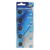 CR1620 pile au lithium 3 V 70 mAh 5 sous blister