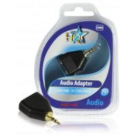 Adaptateur audio 3.5mm prise mâle - 2x 3.5mm prises femelles