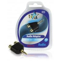 Adaptateur audio jack 3.5mm mâle stéréo vers 2 fiches RCA femelles