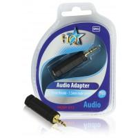 Adaptateur audio 6,35 mm femelle - mâle stéréo 3,5 mm