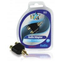 Coupleur audio RCA mâle - 2x RCA femelles