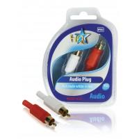 Audio connecteur RCA mâle blanc +rouge