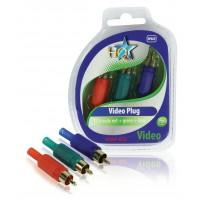 Rouge + vert + bleu masculins de RCA de connecteur visuel