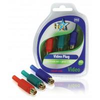 Connecteur vidéo RCA femelle rouge + vert + bleu