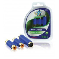 video coupler s-video + 2x RCA femelle - s-video + 2x RCA femelle