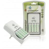 Chargeur + 4x batteries AA 1.6 V Ni-Zn 600 mAh