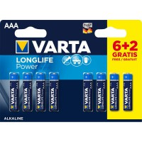 Pile alcaline AAA 1.5 V High Energy 8-Promotional Blister