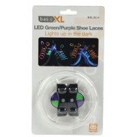 LED shoelaces green / purple