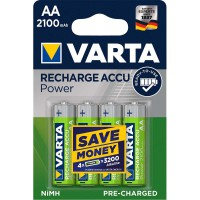 Batterie Rechargeable NiMH AA 1.2 V 2100 mAh 4-Blister
