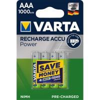 Batterie Rechargeable NiMH AAA 1.2 V 1000 mAh 4-Blister