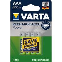 Batterie Rechargeable NiMH AAA 1.2 V 800 mAh 4-Blister