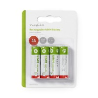 Pile Rechargeable Ni-MH AA | 1.2 V | 2 000 mAh | 4 pièces | Blister