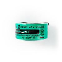 Batterie Nickel Métal-Hydrure | 2,4 V | 250 mAh | Connecteur à Souder