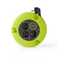 Dérouleur de Câble | 5,0 m | 3 x 1,5 mm² | Coupure Thermique | Type E et USB
