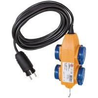 Rallonge de Câble d'Alimentation 5.00 m H07RN-F 3G1.5 IP44 Jaune