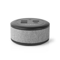 Chargeur Familial de Bureauen Tissu   3 ports USB 2,1 A (max.)   1 port USB-C™ 18 W PD   Gris