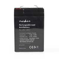 Batterie au Plomb-acide 6 V | 4 000 mAh | 70 x 47 x 101 mm