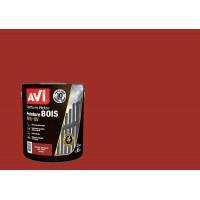 AVI Peinture pour bois - rouge basque, satin, 2,5l