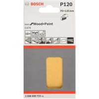 BOSCH 10 feuilles abrasives pour cale de ponçage C470 - pack de 10 - 70 x 125 mm - Grain : 120