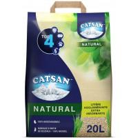 CATSAN NATURAL Litiere végétale agglomérante - Pour chat - 20 L