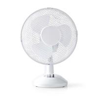Ventilateur de Table | 23 cm de Diamètre | 3 Vitesses | Fonction d'Oscillation | Blanc