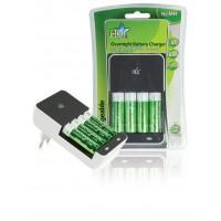 Chargeur de batteries avec 4 piles AA