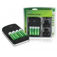 Chargeur de batteries ultra rapide avec 4x batteries AA 2700 mAh