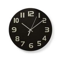 Horloge Murale Circulaire   30 cm de Diamètre   Chiffres Faciles à Lire   Noir