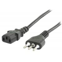 câble d'alimentation avec prise italienne - IEC320 C13 5.00 m