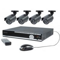 Ensemble de sécurité avec DVR 500 Gb et 4 caméras