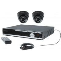 Ensemble de sécurité avec DVR 500 Gb et 2 caméras dôme