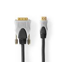 Câble HDMI™ vers DVI | Connecteur HDMI™ vers DVI-D Mâle à 18 + 1 Broches | 2,50 m | Noir