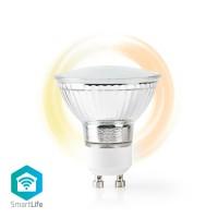 Ampoule LED Intelligente Wi-Fi   Blanc Chaud   GU10   Réglable sur Blanc Très Chaud (1 800 K)