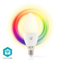 Ampoule LED Intelligente Wi-Fi   Pleine Couleur et Blanc Chaud   E14
