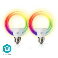 Ampoules LED Intelligentes Wi-Fi   Pleine Couleur et Blanc Chaud   E27   Lot de 2