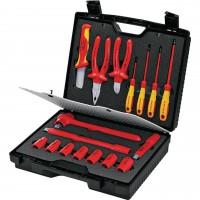 Coffret de service avec outils isolés 17 pcs VDE