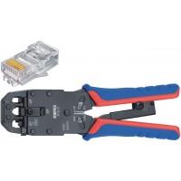 Pince à levier à sertir pour fiche Western Connecteur Western RJ10 (4-pin) 7.65 mm, RJ11/12 (6-pin) 9.65 mm, RJ45 (8-pin) 11.68
