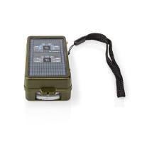 Boussole | Outil d'Extérieur 10-en-1 | Thermomètre | Hygromètre | Lampe Torche LED | Loupe | Règle | ABS | Noir