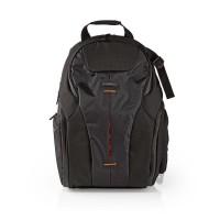 Sac à dos pour appareil photo | 290 x 410 x 150 mm | 10 poches Intérieures | Noir/Orange
