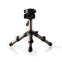 Mini Trépied   Fonction Panoramique et Inclinaison   Max. 1 kg   22 cm   Noir/Argent
