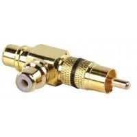 Branchez l'adaptateur RCA branchez doubler RCA Prise ( GOLD ) noir