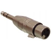 Adaptateur mâle stéréo de 6,35mm - femelle 3p XLR